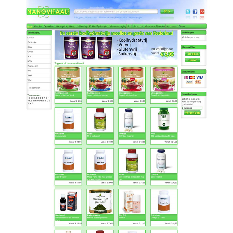 Nano Vitaal Webshop